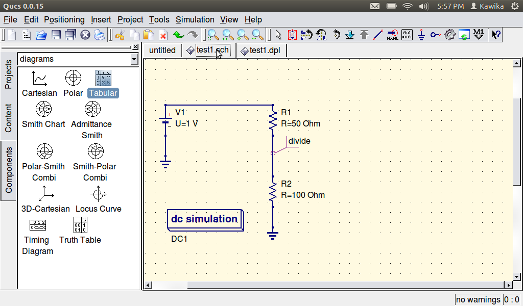Circuit Simulator for Linux Qucs | Thru-Hole